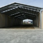 Loading Shelter 14x50x5.5m 15 degree gable
