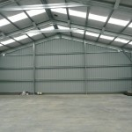 Shed 14x15x4m 15 degree gable with lean to