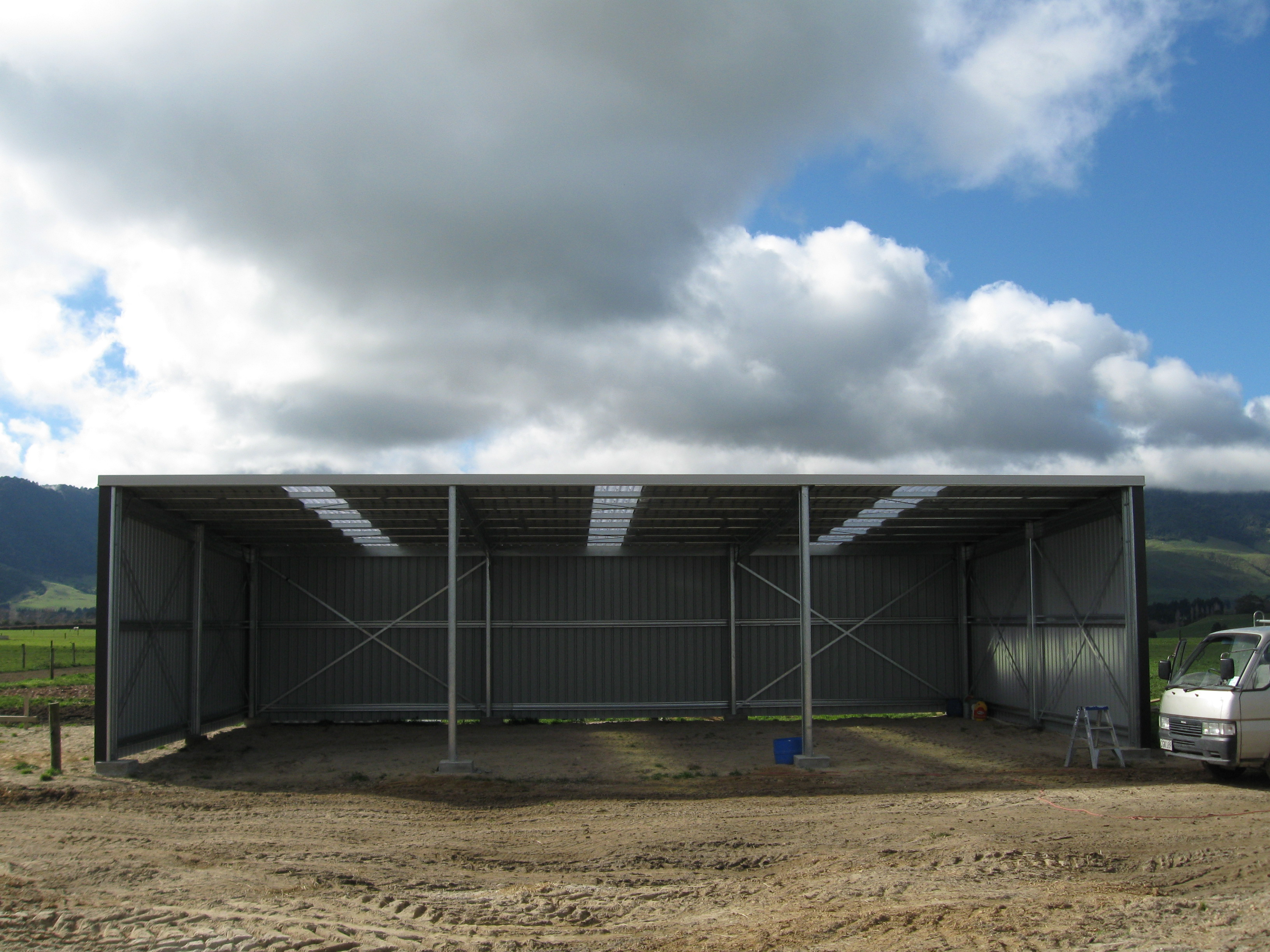 Orielly Farm Shed Open Front Durobuilt Steel