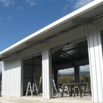 Gas Filling Station 6x12x3m 15 degree gable with canopy