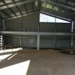 Shed 12x20x4.8m 15 dgree gable with mez floor