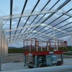 Farm Shed 12x30x4.5m 15 degree gable with canopy