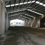 Loading Shelter 14x50x5.5m 15 degree gable